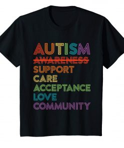 Autism Awareness T-Shirt Support Care Acceptance Ally Gift