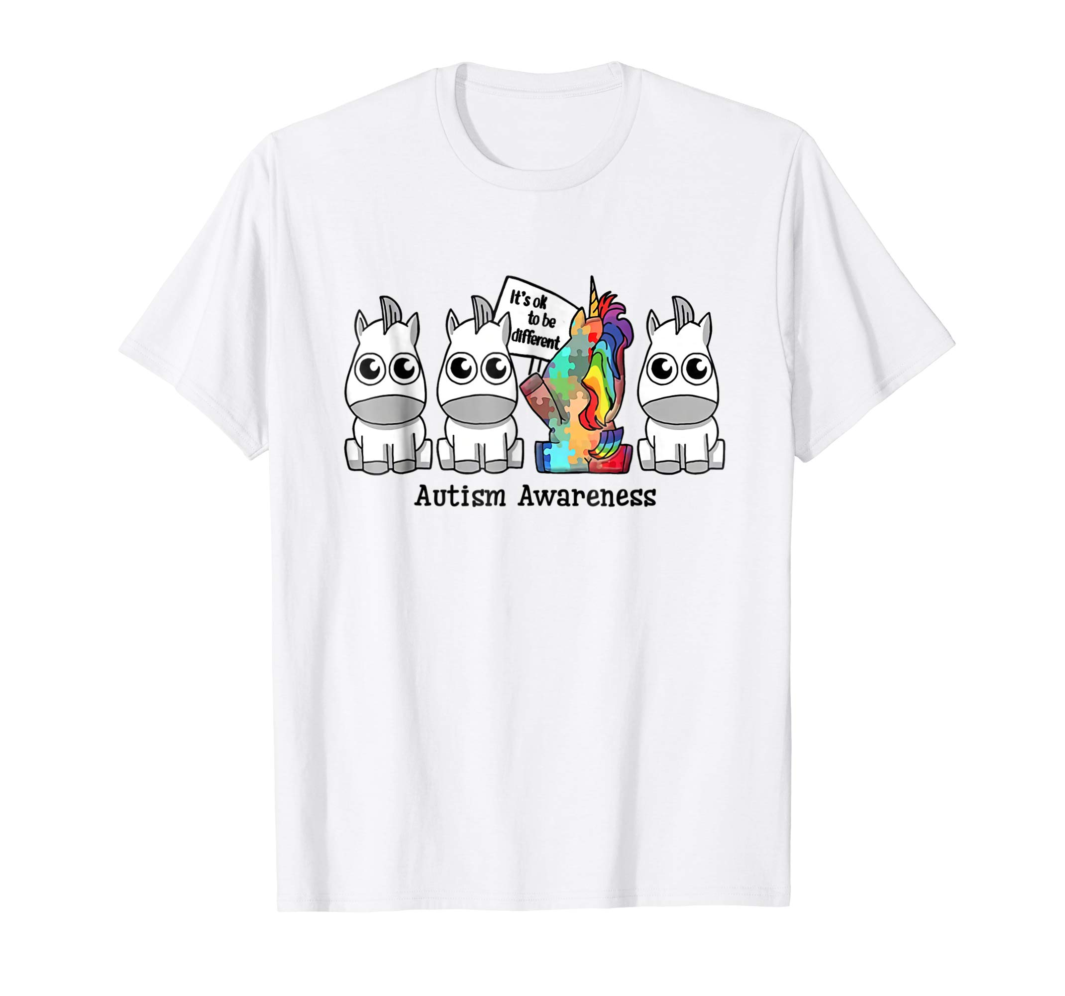 It's ok to be different Autism Awareness Unicorn Gift Shirt