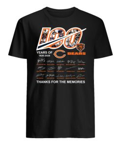 100 year of chicago bears 1920-2020 thanks for the memories signatures men's shirt