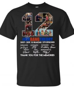12 years the Big Bang Theory thank you for the memories T-Shirt