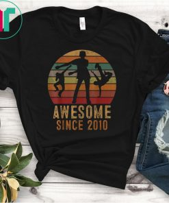 Floss Awesome Since 2010 Shirt 9 Year Old Gift 9th Birthday T-Shirt