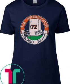 Womens Vintage 1980s Chicago Bears Refrigerator Perry Tee Shirt