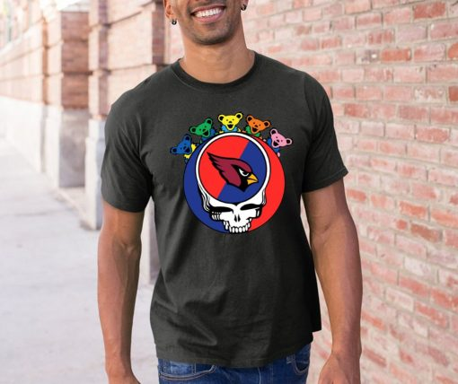 Grateful Dead Mixed With Arizona Cardinals Cool Gift For Fans Offcial T Shirt