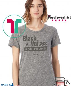 Black Voices for Donald Trump Tee Shirt