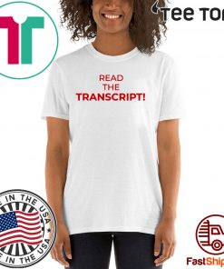 Read The Transcript Shirts - limited Edition Tee