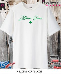Zillion Beers Shamrock Cropped For T-Shirt