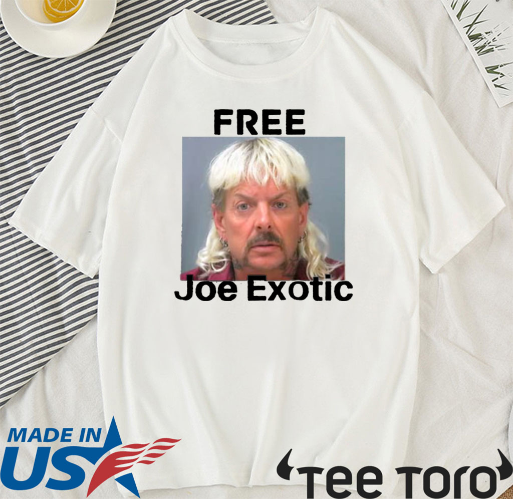 Free Joe Exotic Tiger King Innocent Raglan Baseball For T-Shirt