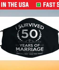 50th Wedding Anniversary Gifts Couples Husband Wife 50 Years Filter Face Mask