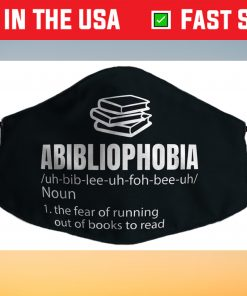 Abibliophobia Definition Reading Bookworm Reader Us 2021 Face Mask