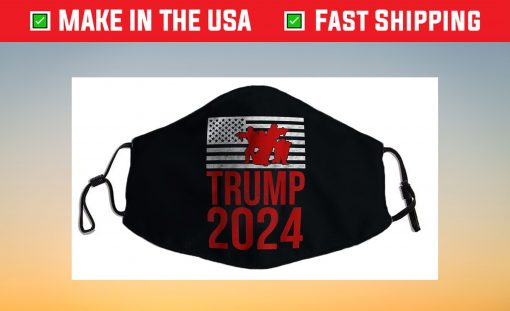 American Flag Design Trump 2024 Us 2021 Face Mask