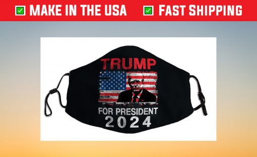 American Flag Trump For President 2024 Face Mask For Sale