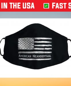 American Neanderthal Flag for Proud Neanderthals Filter Face Mask