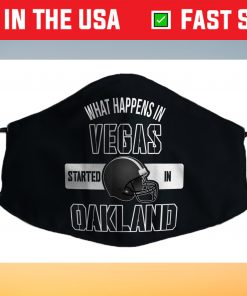 What happens in Vegas Started In Oakland Perfect Sporty Us 2021 Face Mask