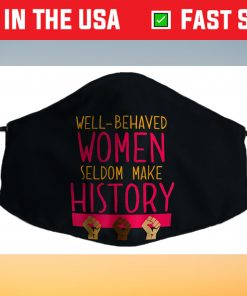 Womens History Month Filter Face Mask