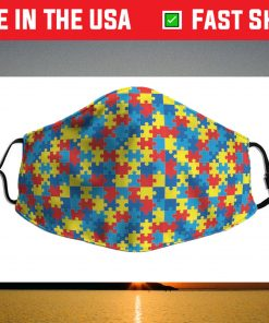 autism LGBT Funny Face Mask