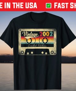 2002 19th Birthday 19 Years Old Limited Edition Vintage T-Shirt