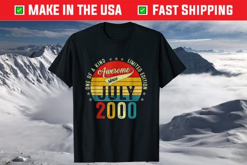 21 Years Old Vintage 2000 Limited Edition 21st Birthday Gift T-Shirt