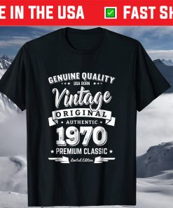Born in 1970 Vintage Birthday Made in 1970 Shirt